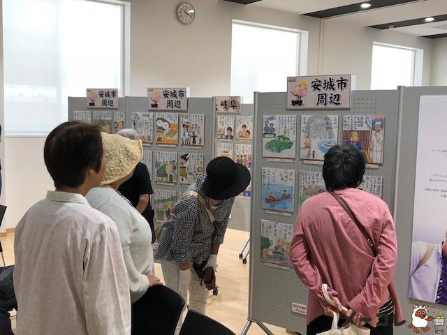 旅ゴメ色紙展会場3